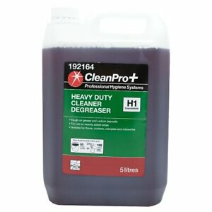 CleanPro+ Heavy Duty Cleaner Degreaser H1 Concentrate 5L Cleaning Hygiene x 2