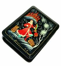 Winter Kholuy Style Hand Painted Crafted Artisan Russian Keepsake Lacquer Box