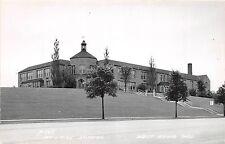Wisconsin Wi Real Photo RPPC Postcard c1950 WEST BEND High School Building