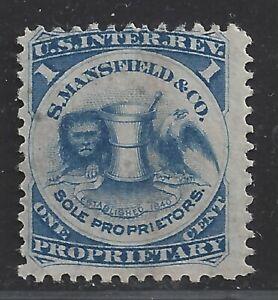Private Die Proprietary Medicine Revenue Stamp RS174c On Pink Paper