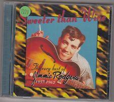 JIMMIE RODGERS - sweeter man wine CD