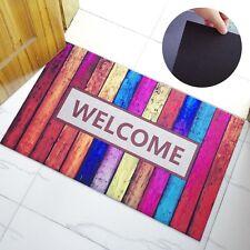 Welcome Doormat Front Entrance Carpet Rubber Non-Slip Rug Home Decor Floor Mat