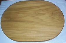 Handmade Poplar Wood Oval Cutting Board