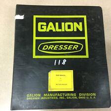 Galion Dresser No. 118 MOTOR GRADER SERVICE SHOP REPAIR MANUAL GUIDE BOOK BLADE