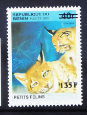 More details for benin 2000 michel 1237 1995 40fr small cats surcharge 135f unmounted mint eu200