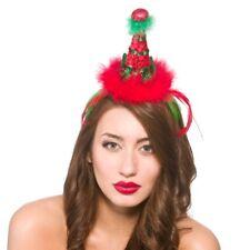 Elfe Mini Chapeau Serre-Tête Noël Père Noël Helper Sequin Accessoire Déguisement