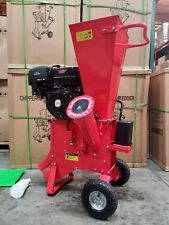 "New 15HP 420CC Gas Powered Wood Chipper Shredder 4"" Capacity w/ Mulch Bag"