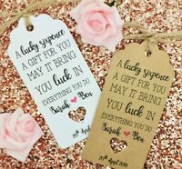 Lucky Sixpence Coin Favour Gift Tag Wedding Label, Personalised