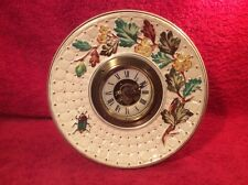 Clock Antique American Majolica Clock Flowers Leaves & Bug c.1882-1884, fm1109