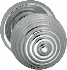 Omnia Round Passage Door Knob Set, Polished Chrome Solid Knobset 415 60 PA2 US26