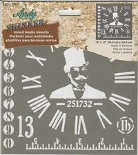 """Andy Skinner Mixed Media Stencil Made To Measure 8""""x8"""" Reusable Template DecoArt"""