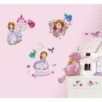 SOFIA THE FIRST Wall Stickers 37 Decals Disney Princess Purple Room Decor