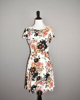 LONDON TIMES $89 Floral Flutter Sleeve Fit & Flare Skater Dress Size 4