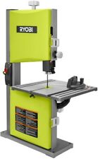 Band Saw Ryobi 9 in. 2.5 Amp Cross Cuts Stationary Woodworking Accurate Green