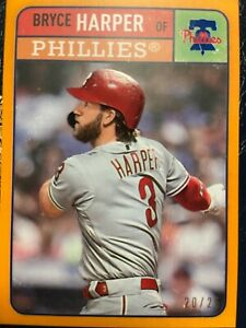 Bryce Harper Topps 2019 Brooklyn Collection Orange Parallel #/25