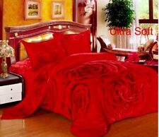 New Ultra Soft 1pc Flannel Plush Queen Size Velvet Cozy Blanket  Bedspread79X94""