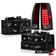 94-98 Chevy C10 C/K Suburban 1500 2500 {CHERRY RED} LED Tail Lamps Head Lights