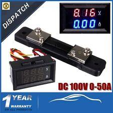 100V DC Digital Voltmeter Ammeter 0-100A LED LCD Amp Volt Meter Current Shunt