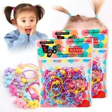 50 Lot Bulk Elastic Hair Ties Girls Kid Baby Band Ponytail Holder Headbands