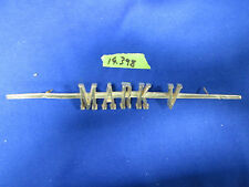 1960 Lincoln MARK V 5 script emblem badge gold