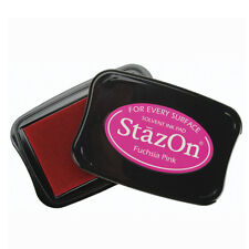 STAZON INK PAD SOLVENT INK PADS by TSUKINEKO. CHOICE of COLOURS & PAD SIZE