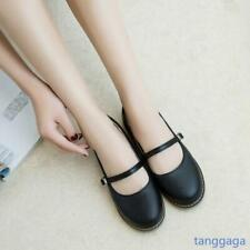 Womens Mary Jane Strappy Falts Slip On Leisure Comfort Collegiate Shoes Walking