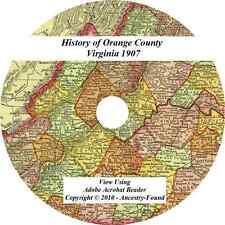 1907 History & Genealogy ORANGE County Virginia VA
