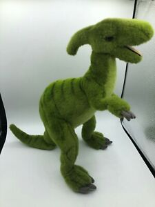 Hansa Portraits Of Nature Green Dinosaur 2010 Plush Soft Stuffed Toy Animal