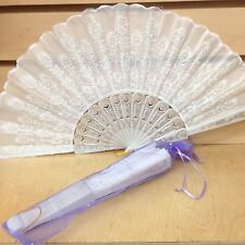 24 PC sparkle organza BAGS(FANS NOT INCLUDED) for hand fan wedding party favor