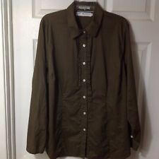 TOMMY HILFIGER WOMENS LONG SLEEVE BUTTON FRONT BLOUSE SHIRT TOP SWEATER, SIZE 18
