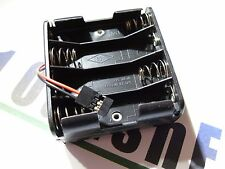 RC 8AA Battery Holder Box JR Connector Receiver RX Plane Truck Car Boat 12v
