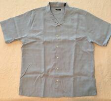 ALFANI Mens Shirt XXL Modal Blend Light Blue Tonal Pattern A03