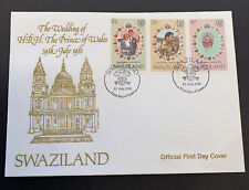 1981 Swaziland Royal Wedding HRH Prince Charles & Lady Diana FDC