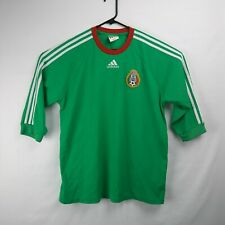 ADIDAS Mexico Soccer Jersey 3/4 Sleeve Futbol Green Men's Size Large