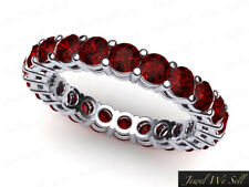 2.05Ct Round Ruby Shared Prong Gallery Wedding Eternity Ring 950 Platinum AAAA