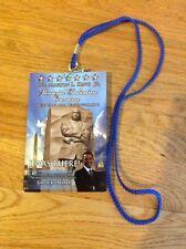 Original Dr. MARTIN LUTHER KING Jr Memorial Dedication Credential Lanyard Obama