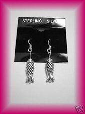 925 STERLING SILVER FISH EARRING