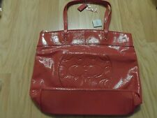 COACH LAURA PATENT LEATHER TOTE HANDBAG 18900 PINK NWT+ ESTEE LAUDER MAKEUP CASE