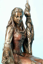 Göttin d.Liebe,Frigga,Ehe,baby,bronziert,21x16cm,figur,statue,polyresin,frigg