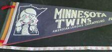 MINNESOTA TWINS 1965 VINTAGE AMERICAN LEAGUE CHAMPIONS PENNANTWORLD SERIES