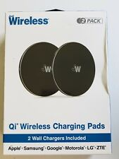 Just Wireless Qi Wireless Charging Pads 2-Pack BLACK