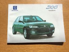 Peugeot 306 Hatchback Car Handbook, Instruction Book, Maintenance Manual