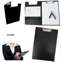 A4 Clipboard Black Solid Fold Over Office Document Holder Filing Clip Board Hand
