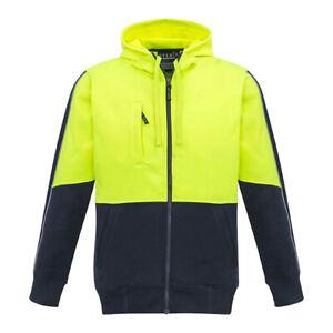 Syzmik Workwear Unisex Hi Vis Full Zip Hoodie ZT485