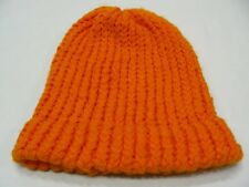 ORANGE - HAND KNITTED - YOUTH SIZE STOCKING CAP BEANIE HAT!