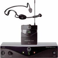 AKG Perception Wireless Sports Set Band A (SR45, PT45 & C 544 L Mic) New
