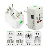 Travel UK US AU to EU Euro Plug AC Power Charger Adapter Converter Socket X0Q1