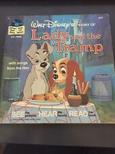 Walt Disney's Lady And The Tramp, See,Hear & Read Book/Record 1979