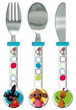 Spearmark Cbeebies Bing Bunny Cuchillo Tenedor Cuchara Cubiertos Conjunto de regalo de la edad de 3 - 4