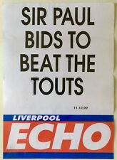 Beatles  Paul McCartney  1999 Liverpool Echo Billboard Poster (Cavern Gig)